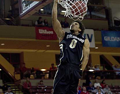Colorado's Askia Booker gets the layup in the Buffs' win over Murray St. at the Charleston Classic. (US Presswire)