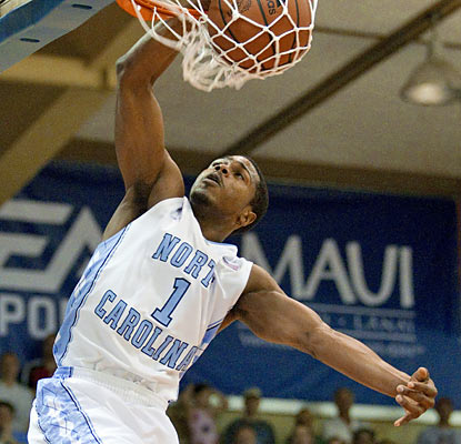 Dexter Strickland, one of five Tar Heels to score in double figures, finishes with 10 points and five assists. (AP)