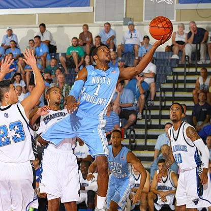 North Carolina guard Dexter Strickland glides in for a layup against an overmatched Chaminade squad.  (US Presswire)