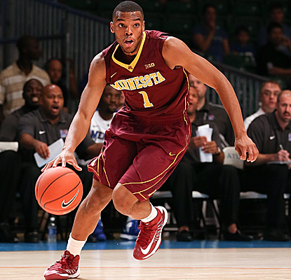 Minnesota guard Andre Hollins scores 41 points to lead Minnesota to a 84-75 win over Memphis. (US Presswire)