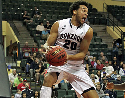 Gonzaga senior forward Elias Harris scores24 points against Davidson, his highest total for the season. (US Presswire)
