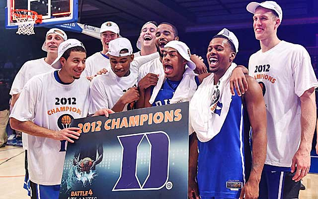 Duke moves up after winning the Battle 4 Atlantis title. (US Presswire)