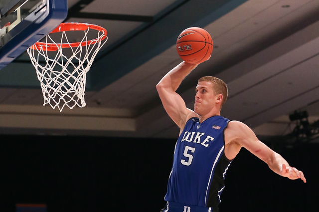 Duke senior Mason Plumlee has the Blue Devils off to a hot start. (Getty Images)