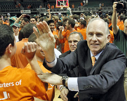 Jim Larranaga's Hurricanes (4-1) earn a signature win early in the season against the No. 13 Spartans. (AP)