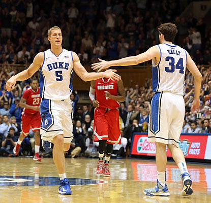Mason Plumlee helps fuel the Blue Devils past the Buckeyes with a 21-point, 17-rebound performance. (Getty Images)