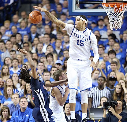 With Anthony Davis now in the pros, Willie Cauley-Stein takes over the shot-blocking duties for Kentucky.  (Getty Images)