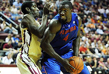Patric Young -- 10 points and eight boards -- and the Gators make FSU their fifth foe this year to score fewer than 50 points. (US Presswire)