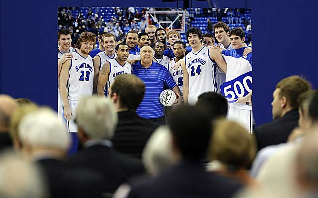 Saint Louis University held a memorial service for basketball coach Rick Majerus on Friday. (AP)