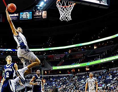 Georgetown's Otto Porter skies for the jam in the Hoyas' 89-53 win over Longwood. (US Presswire)