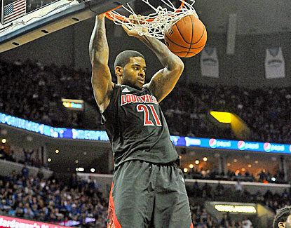 Sophomore forward Chane Behanan scores 22 points as Louisville guts out a tough road win over Memphis. (US Presswire)