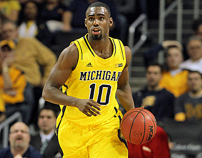 Michigan's Tim Hardaway Jr. matches his season high with 25 points against West Virginia. (US Presswire)