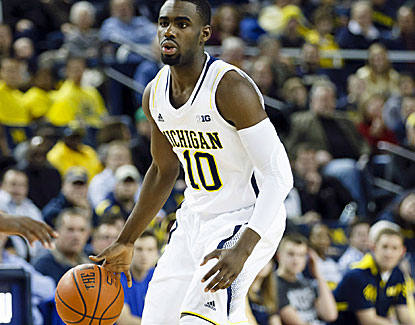 Tim Hardaway Jr. scores 17 points along with a career-high seven assists in the Wolverines' win. (US Presswire)