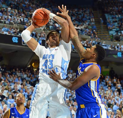 James Michael McAdoo scores 12 points to help North Carolina take care of McNeese State in Chapel Hill.  (US Presswire)