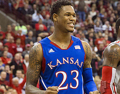 Kansas' Ben McLemore scores 22 points, including 5 late five late points to lead the Jayhawks to victory. (US Presswire)