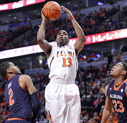 Tracy Abrams helps Illinois avoid an upset to Auburn with his career-high, 27-point effort. (US Presswire)