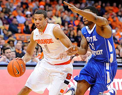 Michael Carter-Williams leads Syracuse past CCSU with 13 assists and a career-high 18 points. (US Presswire)