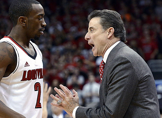 Pitino says of his junior guard, 'You take the good with the bad with Russ Smith.' (AP)