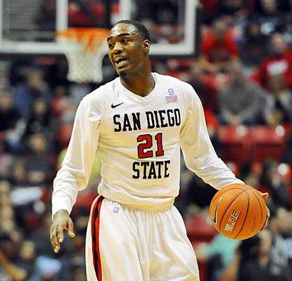 Aztecs guard Jamaal Franklin finishes with a team-high 18 points along with a game-high 12 rebounds. (US Presswire)