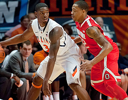 Guard Brandon Paul scores 19 points and Illinois uses a stingy defense to shut down the Buckeyes. (US Presswire)