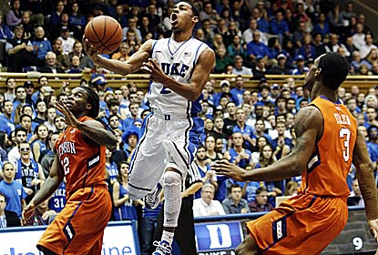 Quinn Cook scores a career-high 27 points for Duke, which holds Clemson to its lowest-scoring half (10 points) in 12 years. (AP)