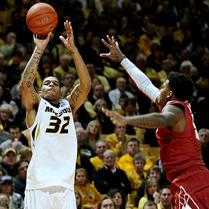 Missouri's Jabari Brown finds the zone during the second half after struggling during his previous game.  (US Presswire)