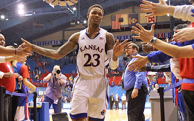 Ben McLemore saved Kansas with a 3-pointer at the end of regulation -- and says he called 'bank.' (Getty Images)