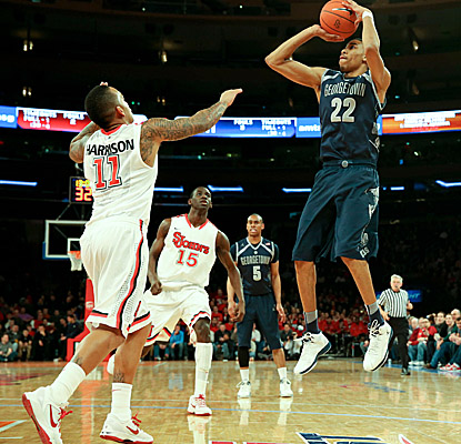 Super soph Otto Porter helps give the Hoyas a scoring boost, hitting for 19 points and grabbing 14 boards. (AP)