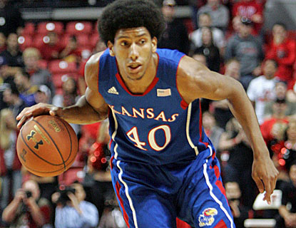 Forward Kevin Young scores 14 points and gives the Jayhawks a spark in the second half. (US Presswire)