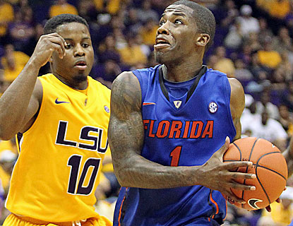 Kenny Boynton scores 20 points for Florida, and gives the Gators a boost in the second half, scoring 8 points in 5 minutes. (US Presswire)