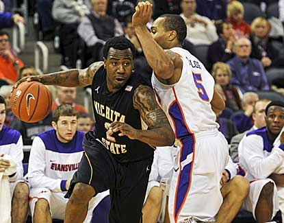 Wichita State senior guard Malcolm Armstead scores 21 points in a losing effort against Evansville. (AP)