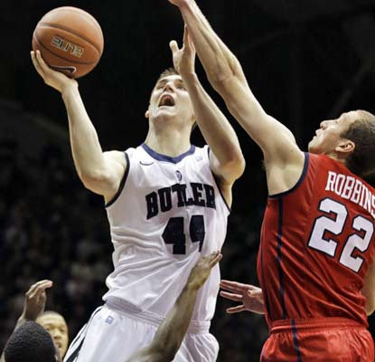 Andrew Smith scores 15 points and Butler has no trouble beating Richmond without Rotnei Clarke.  (AP)