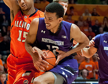 Jared Swopshire scores 12 points to go with six rebounds for Northwestern, which moves to 11-7 on the year. (US Presswire)