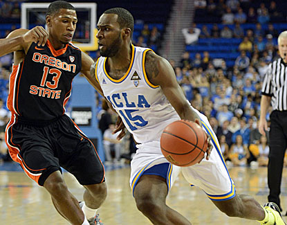 Shabazz Muhammad scores 21 points on 8-of-14 shooting for UCLA against Oregon St. He also grabs 6 rebounds. (US Presswire)