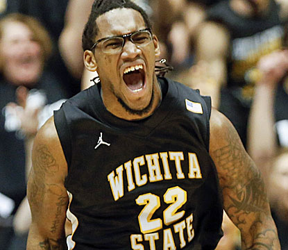 Carl Hall scores 17 points and 13 rebounds for Wichita State, which moves to 17-2 on the season. (AP)