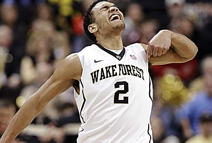 Freshman Devin Thomas leads the way for Wake Forest, contributing a season-high 25 points, 14 boards and four blocks. (AP)