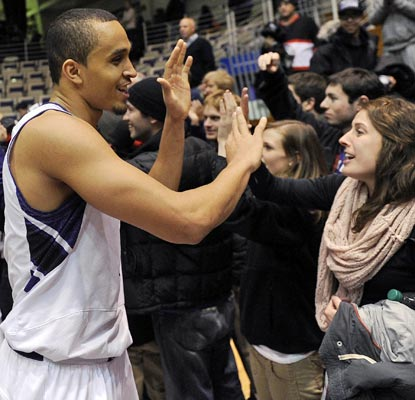 Reggie Hearn and the Wildcats have reason to smile after beating No. 12 Minnesota in Evanston.  (US Presswire)