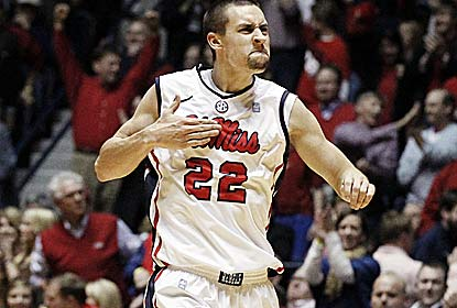 Marshall Henderson, the SEC's top scorer, hits six 3s on his way to 28 points for Ole Miss, 5-0 in the SEC for the second time. (AP)