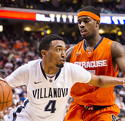 Darrun Hilliard goes 8 for 11 from the floor to finish with a game-high 25 points as Nova upsets Big East rival Syracuse. (US Presswire)