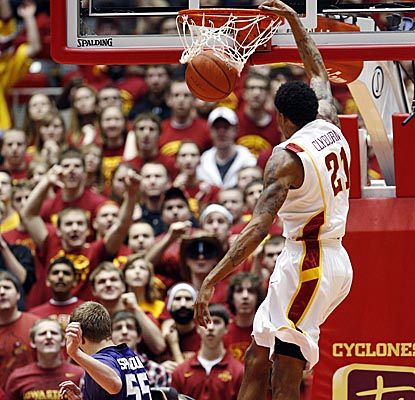 Senior guard Will Clyburn comes through with 24 points and 10 rebounds for the Cyclones, who upset Big 12 rival K-State. (AP)