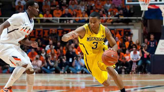 Michigan guard Trey Burke had 19 points against Illinois on Sunday. (US Presswire)