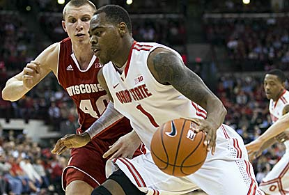 Deshaun Thomas, the Big Ten's top scorer, leads the Buckeyes in the victory with 25 points. (US Presswire)