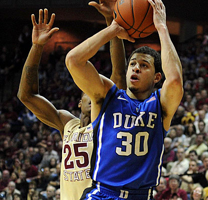 Seth Curry sets the tone early for Duke, scoring 13 of his 21 points in the first half vs. Florida State. (US Presswire)