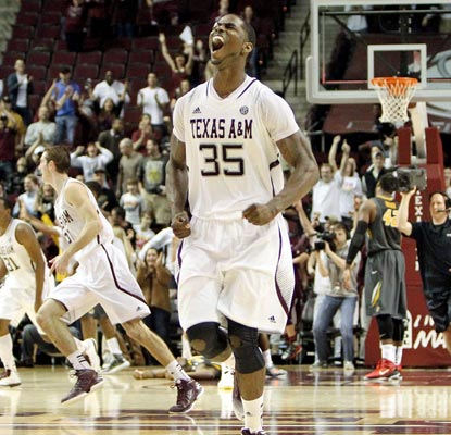 Texas A&M's Ray Turner is pumped following the Aggies' hard-fought victory over No. 21 Missouri.  (US Presswire)