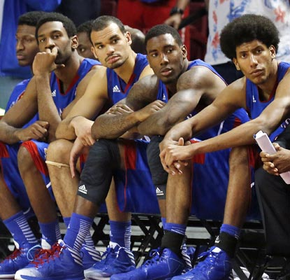 For the first time since February 2005, the fifth-ranked Jayhawks have lost three consecutive games.  (AP)