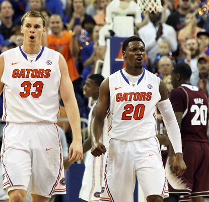 Erik Murphy (left), Michael Frazier II combine for 28 points as Florida bounces back with a vengeance.  (US Presswire)