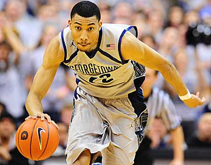 Georgetown's Otto Porter races up court on the way to a game-high 21 points against Marquette. (US Presswire)