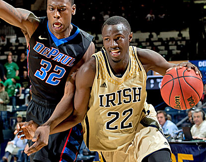 Notre Dame's Jerian Grant scores 21 points, including a big three-point play in OT of the Fighting Irish's win over DePaul. (US Presswire)