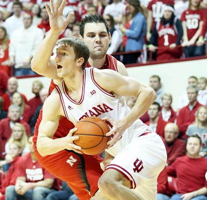 Cody Zeller puts up 16 points against Nebraska to help keep top-ranked Indiana in the win column.  (Getty Images)