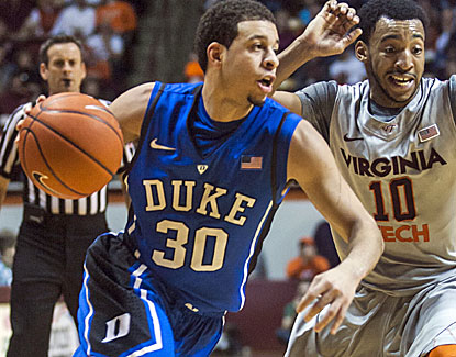 Seth Curry scores 19 of his 22 points in the first half as No. 6 Duke rolls to an easy victory over Virginia Tech. (USATSI)