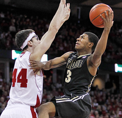 Ronnie Johnson contributes eight points for Purdue while dishing out a game-high eight assists.  (AP)